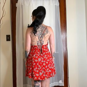 Forever 21 Dresses - Forever 21 Red Daisy Mini Dress